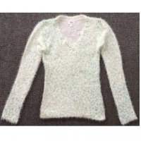 LATEST Girls plush cashmere V-neck sweater TC3-371