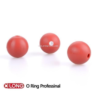 China Solid Rubber ball NBR 60 solid hollow rubber ball with hole on sale