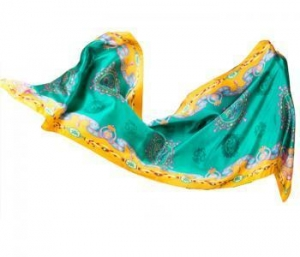 China Crepe satin long scarf/shawl,100% silk,12 momme,170x50cm,printing on sale