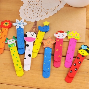 China OF204 Wooden animal shaped bookmark on sale