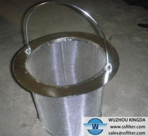 China Basket filter Stainless basket filter element on sale