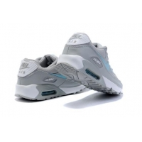 China Light Weight Nike Air Max 90 Mens Shoes Lightgrey Blue White on sale