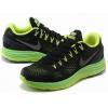 China Light Weight 2013 Nike Flyknit Lunar 4 Black Green Dark-Gray for sale