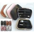 China Leather Case Sets Spray Painting Stainless Steel Mmanicure Sets Pedicure Kit mfg-131 on sale