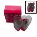 China Plastic Case Manicure Sets Two Hearts Shape Unique New Style Beauty Manicure kit pla-020 on sale
