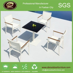 China Design metal frame chairs and tables outdoor white plastic rattan chairs and tables on sale
