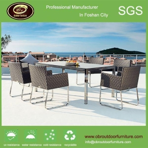 China Luxury modern dining table set for sale magic rattan metal dining table set on sale