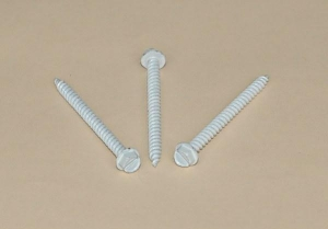 China SCREW Slotted Hex Washer Head Screw-White Painted on sale