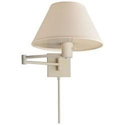 China Visual Comfort Studio Classic Swing Arm Wall Lamp in White with Linen Shade 92000D WHT-L on sale