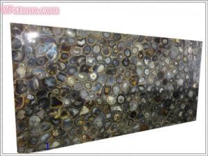 China Slab, Blue Agate Semi Precious Stone on sale