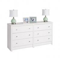 Calla White 6 Drawer Dresser by Prepac