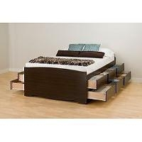 Broadway Black Queen Platform Storage Bed 10687567 Prepac (772398520858)