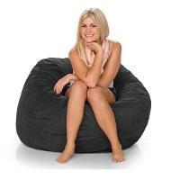 Innovations Brookstone Black 3ft Jaxx Mini Sac Bean Bag Chairs for Kids (658914)