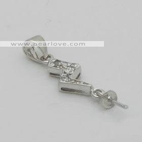 China PM64 5pcs sterling silver pendant mounting on sale