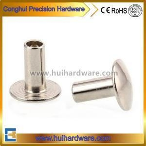 China Carbon Steel Semi-tubular Rivet With Nickel Plated on sale