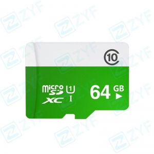 China White and green design 64GB class 10 micro sd memory card on sale
