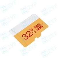 White and yellow design 32GB class 10 micro sd memory card
