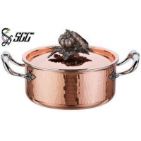 18CM Noble Hand Hammered Copper Pots and Pans For Cooking Pot