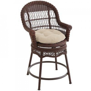 China Outdoor Sunset Pier Chesnut Brown Swivel Counter Stool on sale