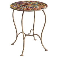 Outdoor Elba Mosaic Accent Table