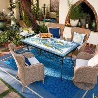 China Outdoor Javan Table & Santa Barbara Chair Dining Set on sale