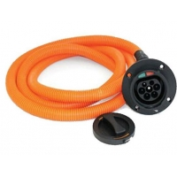 Female ev socket with charging cable cord IEC 62196 type 2 ev charging