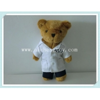 China supply OEM stuffed teddy bear doctor uniform ACL385 on sale
