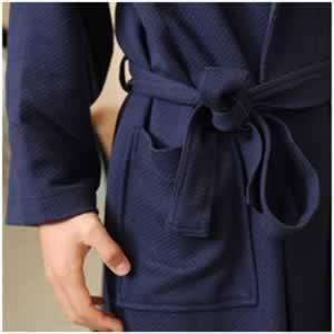 China men modal shawl collar bathrobe on sale