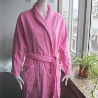 winter warm soft purple coral fleece home women bathroom bathrobe pink bathrobe