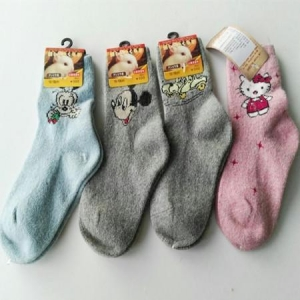 China children rabbit wool socks winter thickening thermal rabbit socks wool socks 100% fur socks on sale