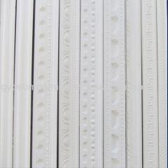 China Decorating Material Gypsum Cornices White Color Classic Design Plaster Coving on sale