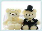 supply plush soft wedding dress bear ACL195