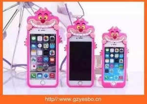 China Cat silione cases cover for iphone , silicon case 3D animal case on sale