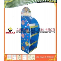 China Temporary Back to School Stationery Corrugated POP Displays Point of Sales Floor Display on sale