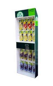 China corrugated power wing display with hooks on sale