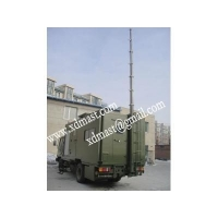 vehicle mounted telescoping antenna masts and mobile telecom antenna tower mast