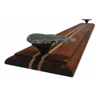 China African Mahogany Serving Tray with Agate Handles on sale