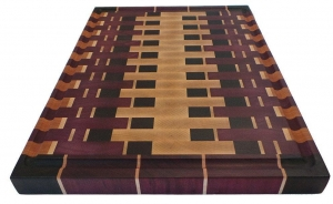 China Abstract - End Grain Exotic Wood Cutting Board on sale