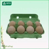 8 cell biodegradable molded pulp egg box for sale