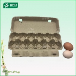 China 12 cell eco friendly paper egg carton with multicolor options on sale