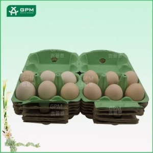 China 6+6 cell Twin Pack Egg Cartons with Different Colors on sale