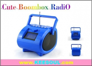 China KS-112 China Promotion gifts MINI COMPACT BOOMBOX RADIO USB SD SLOT WITH ALARM CLOCK on sale