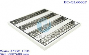 China 60*60cm Thick Grill Panel T5 T8 Fluorescent Light Fixtures on sale