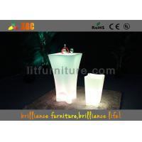 China Polyethylene Cafe Table Bar LED Lighting Furniture&Led Cocktail Table on sale