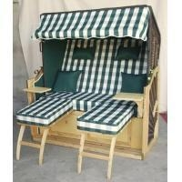 China All Weather 2 Seat Roofed Wicker Beach Chair & Strandkorb For Garden on sale