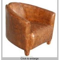 China R-210 Antique Leather Club Chair on sale
