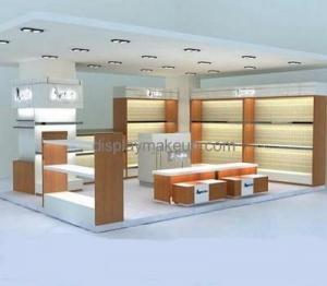 China Custom design acrylic makeup counter display small display shop shelf display cosmetic DMD-100 on sale