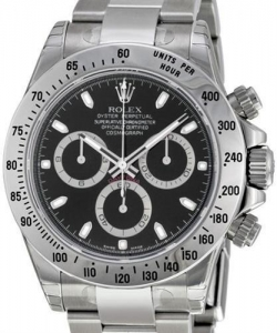 China PRE-OWNED ROLEXCOSMOGRAPH DAYTONA BLACK DIALModel: 116520 on sale