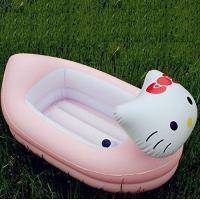 Cartoon animal PVC inflatable children pool/baby bath tub/shower or bath pool