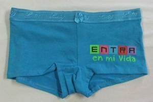 China Boy Shorts Panties Ladies Cotton Lycra Boy short with Rubber Print. on sale
